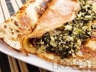 Солени палачинки със спанак и сирене